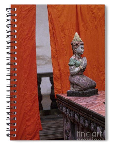 Statue At Wat Phnom Penh Cambodia Spiral Notebook