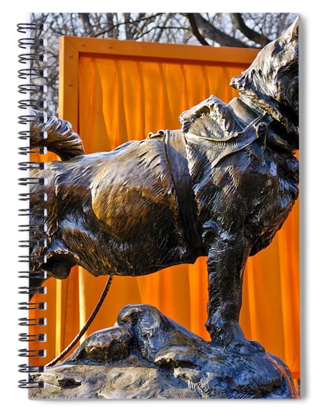Statue Of Balto In Nyc Central Park Spiral Notebook