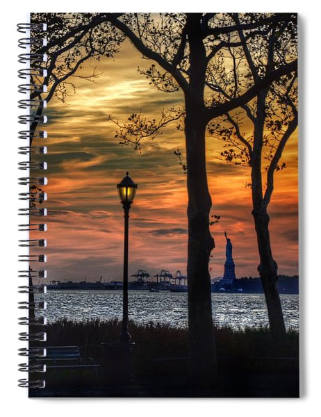 Statue Of Liberty From Battery Park Spiral Notebook