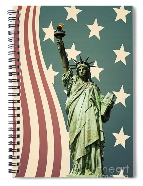 Statue Of Liberty Spiral Notebook