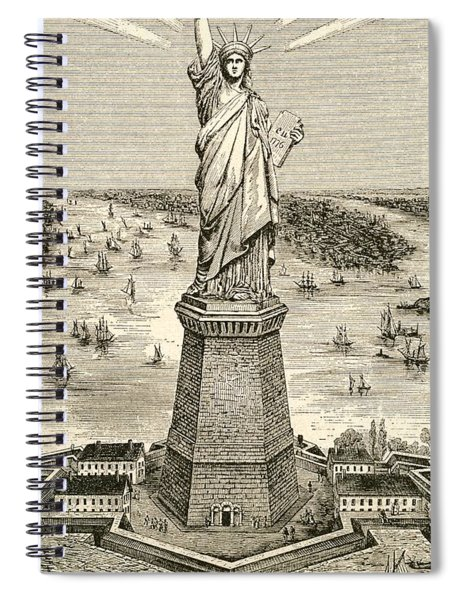 Statue Of Liberty, New York Spiral Notebook