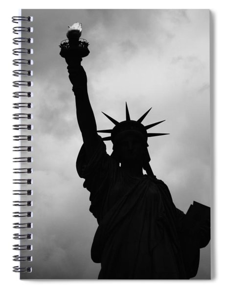Statue Of Liberty Silhouette Spiral Notebook