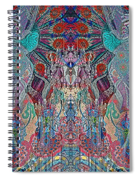 Mirrored Statues  Spiral Notebook