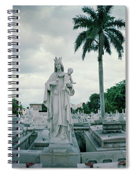 Statues Of Virgin And Child At Colon Spiral Notebook