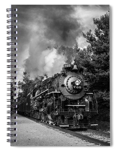 Steam On The Rails Spiral Notebook