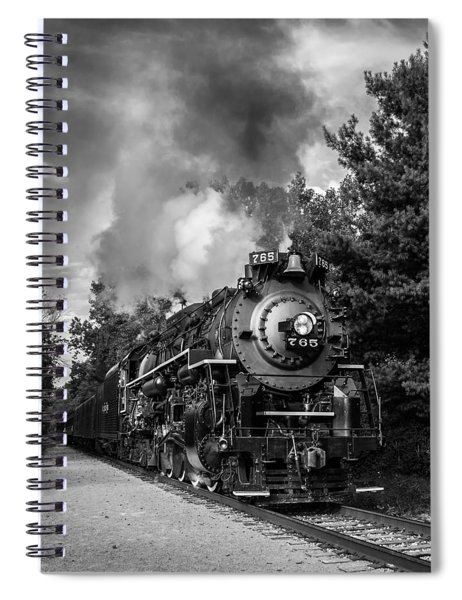 Steam On The Rails Spiral Notebook