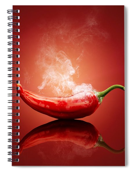 Steaming Hot Chilli Spiral Notebook