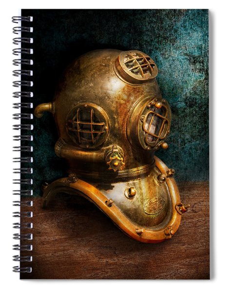 Steampunk - Diving - The Diving Helmet Spiral Notebook