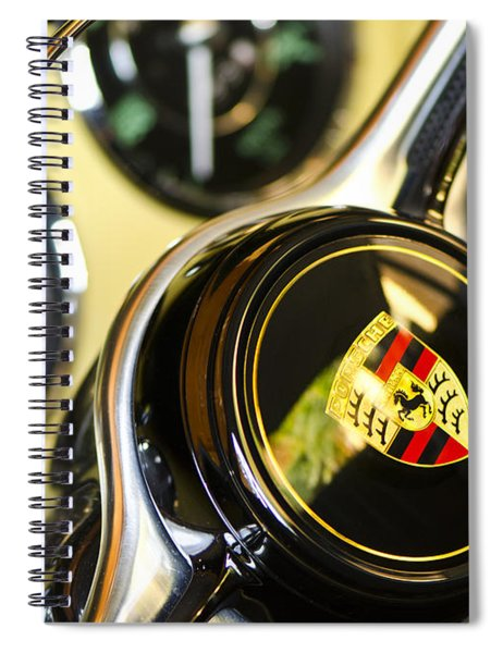 Steering Clear - Vintage Porsche Car By Sharon Cummings Spiral Notebook