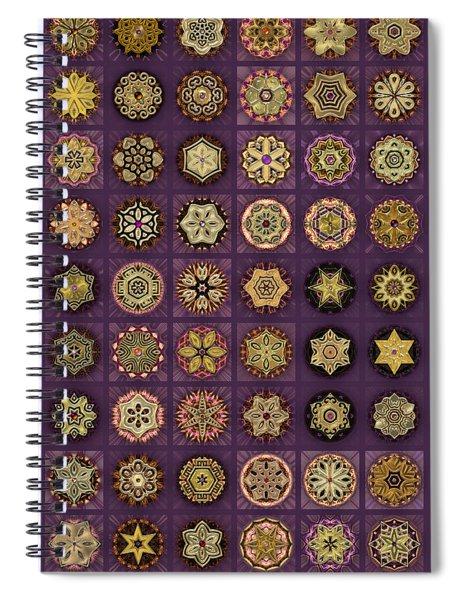 Stellars One Dingbat Quilt Spiral Notebook