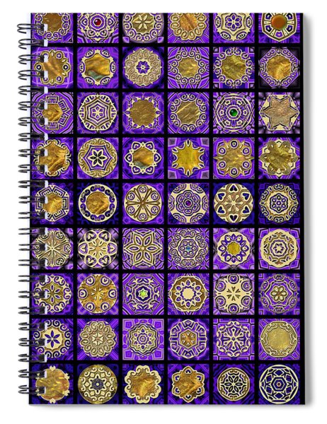 Stellars Two Dingbat Quilt Spiral Notebook