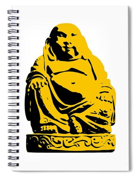 Stencil Buddha Yellow Spiral Notebook