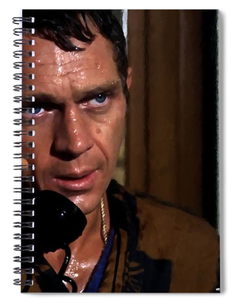 Steve Mcqueen As Bullitt Spiral Notebook