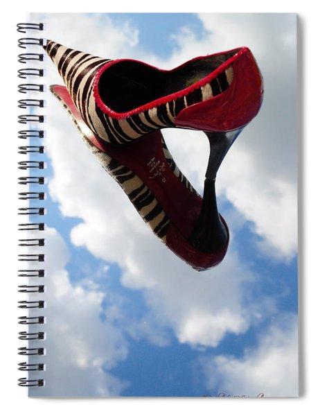 Stilettos Gone Zebra Spiral Notebook