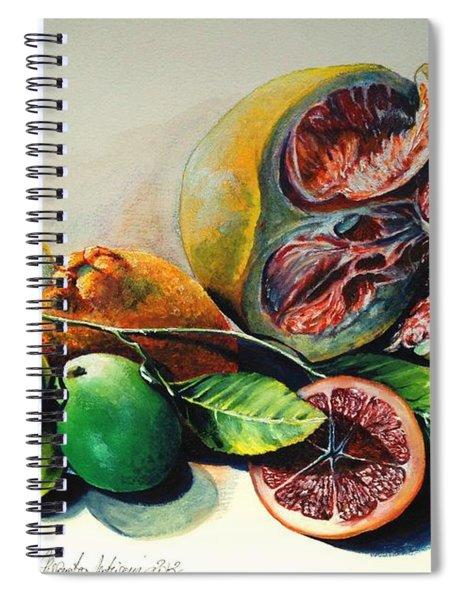 Still Life With Citrus Spiral Notebook