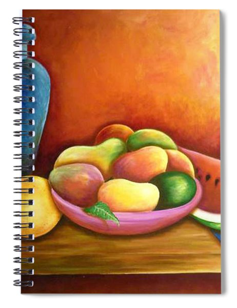Still Life Of Fruits Spiral Notebook
