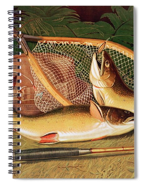 Still Life With A Salmon Trout, A Rod And A Net Spiral Notebook