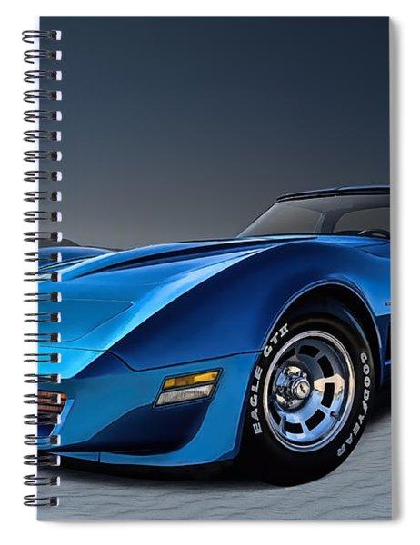 Stingray Blues Spiral Notebook