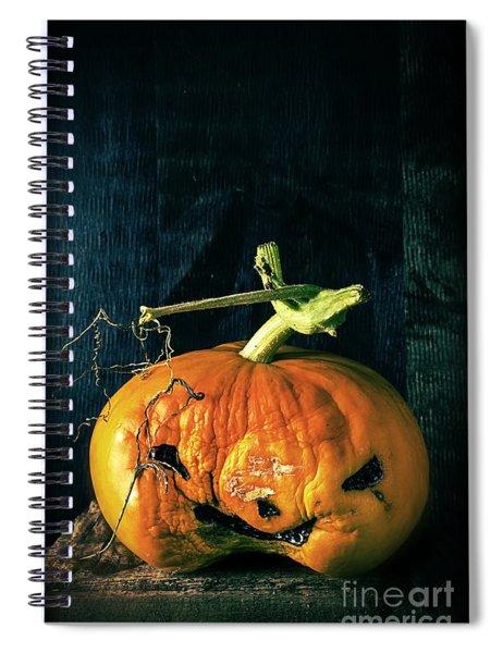 Stingy Jack - Scary Halloween Pumpkin Spiral Notebook