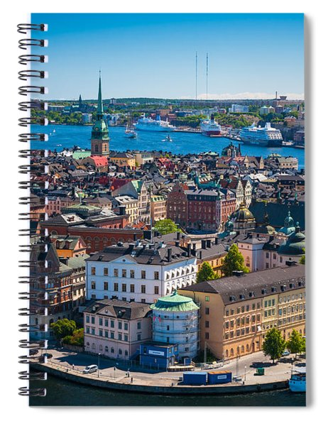Spiral Notebook featuring the photograph Stockholm From Above by Inge Johnsson