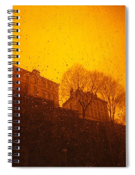 Stockholm The Heights Of South In Silhouette Spiral Notebook