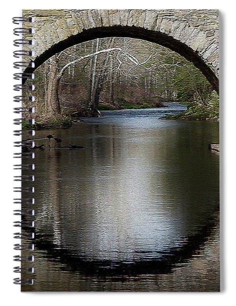 Stone Arch Bridge - Craquelure Texture Spiral Notebook