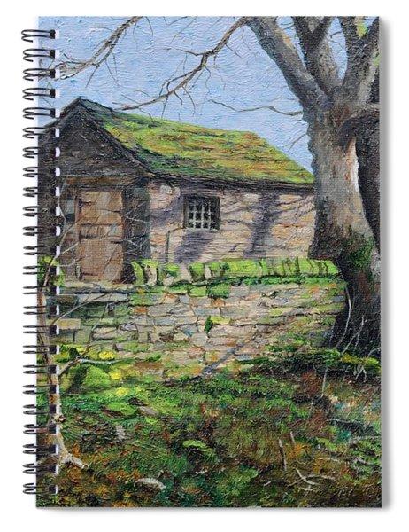 Stone Barn, Alport, Derbyshire, 2009 Oil On Canvas Spiral Notebook