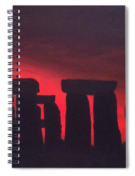 Stonehenge At Dusk Spiral Notebook
