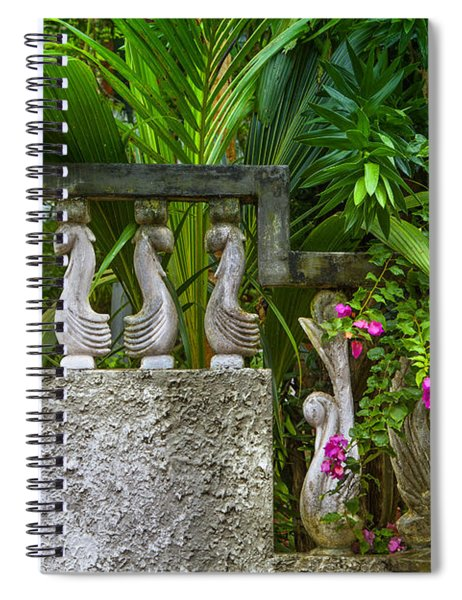 Stony Wall In The Garden Spiral Notebook