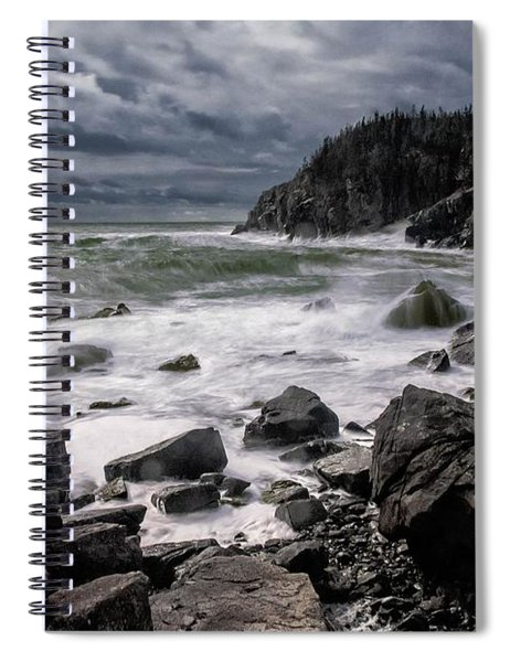 Storm At Gulliver's Hole Spiral Notebook