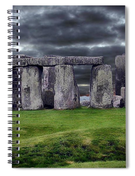 Storm Clouds Over Stonehenge Spiral Notebook