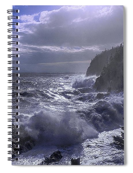 Storm Lifting At Gulliver's Hole Spiral Notebook