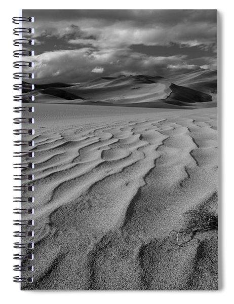 Storm Over Sand Dunes Spiral Notebook