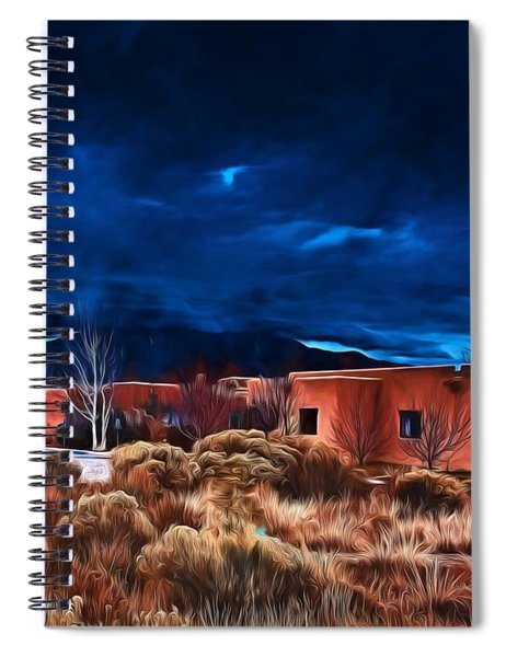 Storm Over Taos Lx - Homage Okeeffe Spiral Notebook