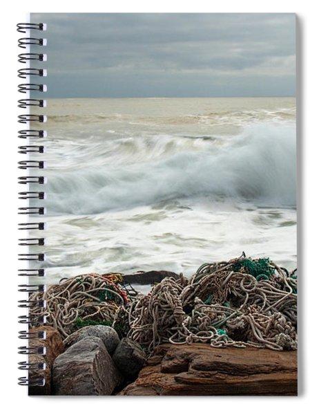 Storm Surf At Rye Beach Spiral Notebook