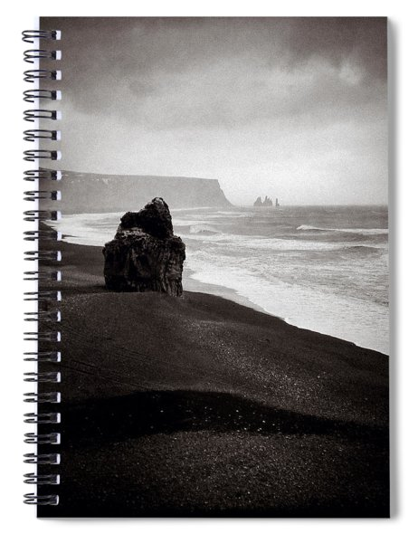 Stormy Day At Dyrholaey Spiral Notebook