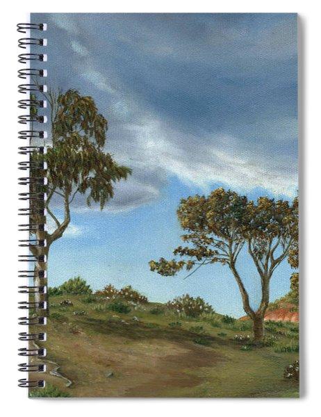 Stormy Eucalyptus Spiral Notebook