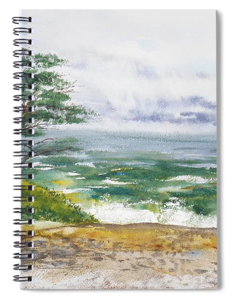 Stormy Morning At Carmel By The Sea California Spiral Notebook