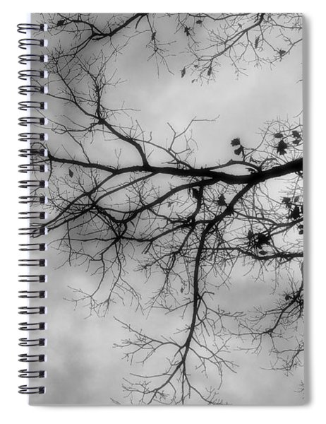 Stormy Morning In Black And White Spiral Notebook