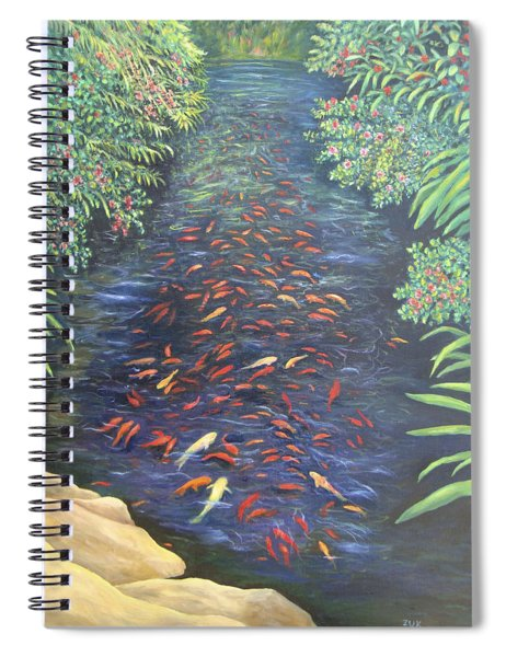 Stream Of Koi Spiral Notebook