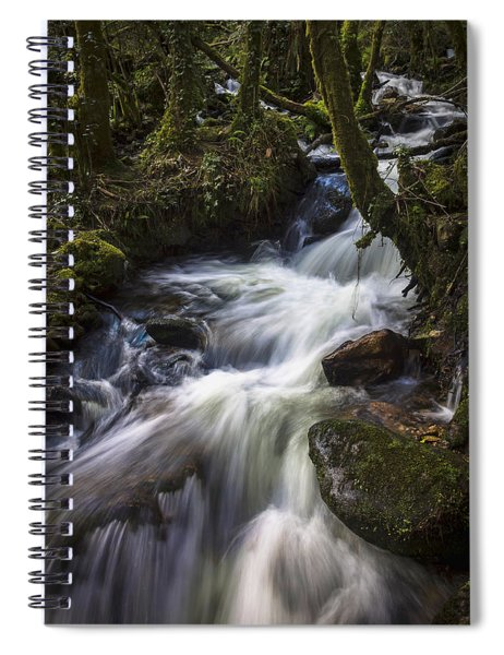 Stream On Eume River Galicia Spain Spiral Notebook