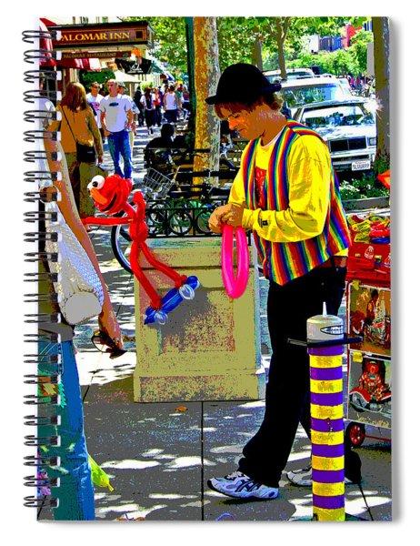 Street Balloon Art Spiral Notebook