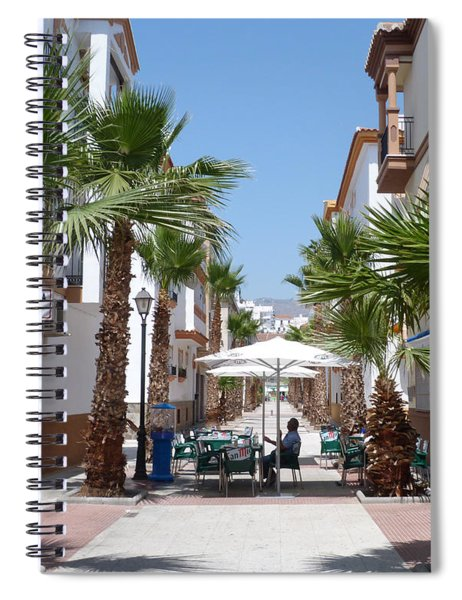Street Cafe - Salobrena Spiral Notebook