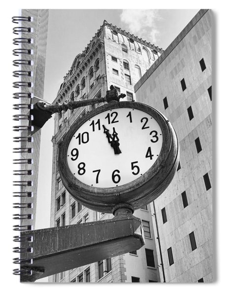 Street Clock Spiral Notebook