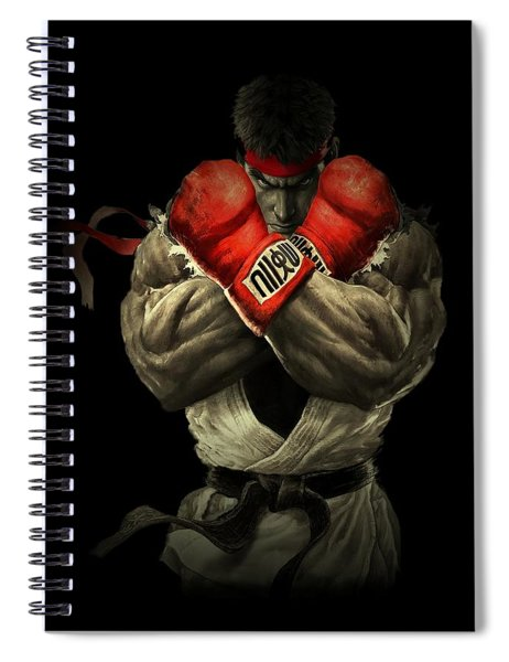 Spiral Notebook featuring the digital art Street Fighter by Movie Poster Prints
