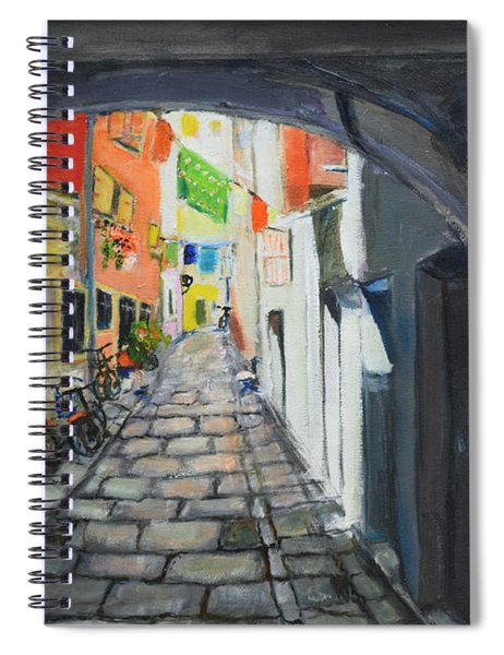 Street View 2 From Pula Spiral Notebook