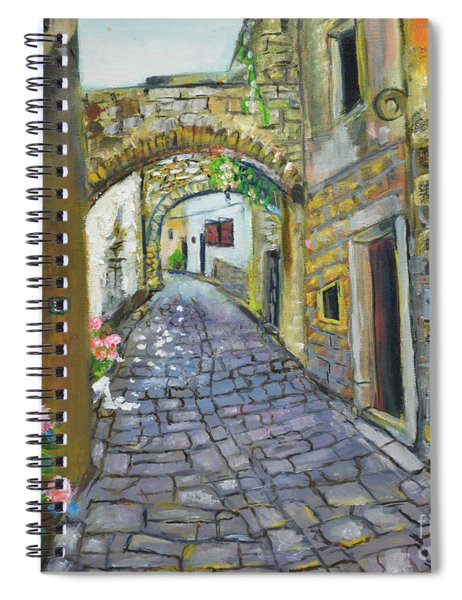 Street View In Pula Spiral Notebook