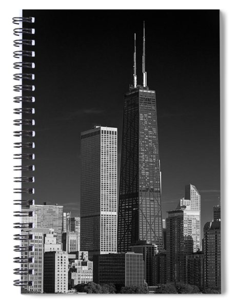 Streeterville Chicago Illinois B W Spiral Notebook