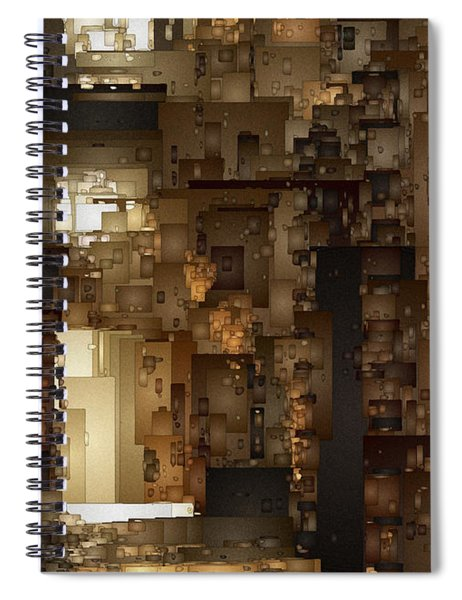 Streets Of Gold Spiral Notebook