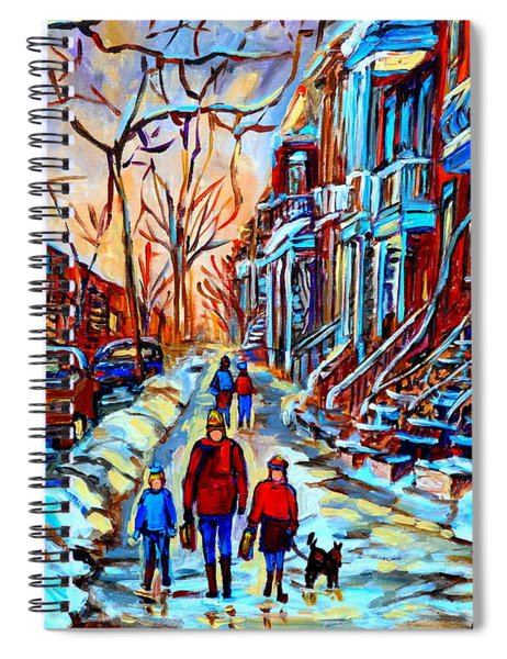 Streets Of Montreal Spiral Notebook